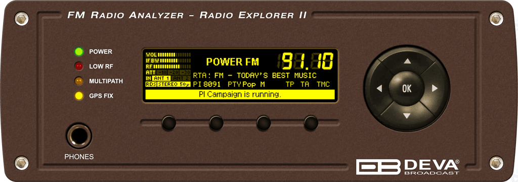 Radio Explorer II Front Panel